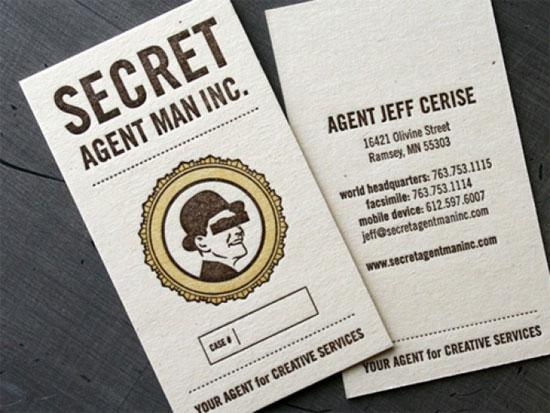Secret Agent Man  Business Card Inspiration