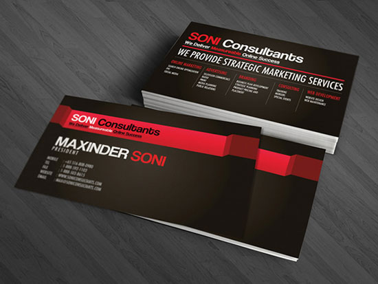 Soni Consultants Business Card Inspiration