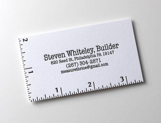 Steven Whitely Business Card Inspiration
