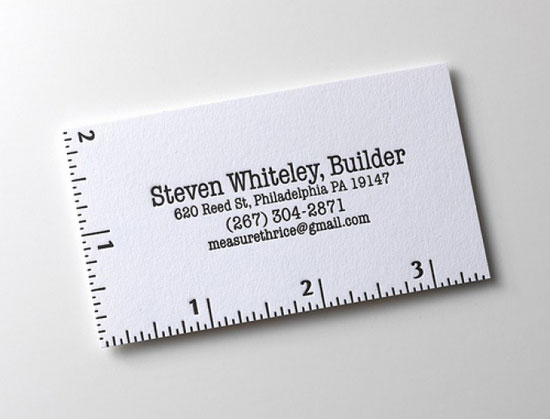 Steven Whitely Business Card Inspiration