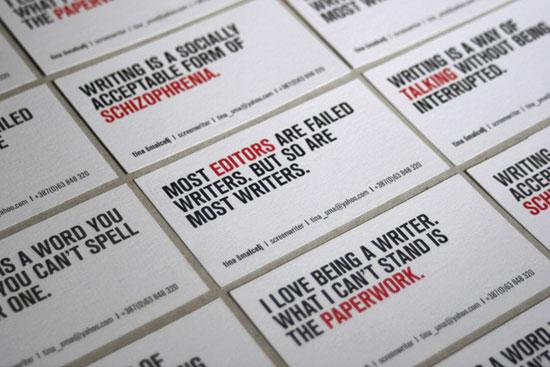 Tina Smalcelj Business Card Inspiration