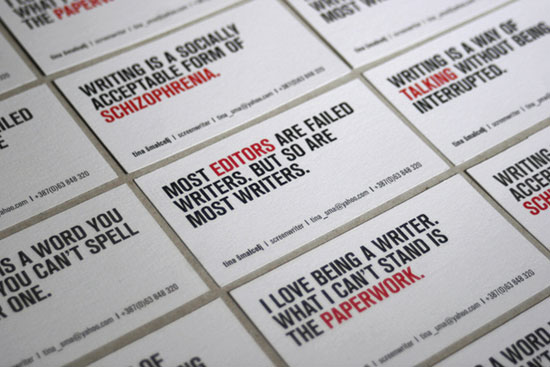 Tina Smalcelj Business Card Inspiration
