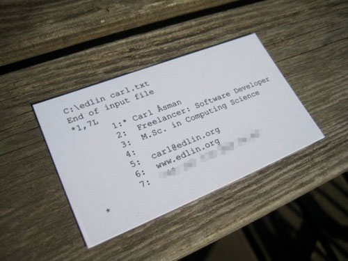 Carl Åsman Business Card
