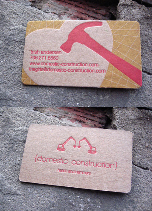Domestic Construction Business Card