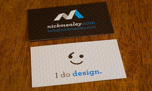 Nick Mealey Business Card