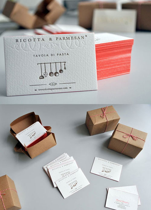 Ricotta & Parmesan Business Card