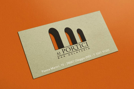 Ai Portici Business Card Design Inspiration