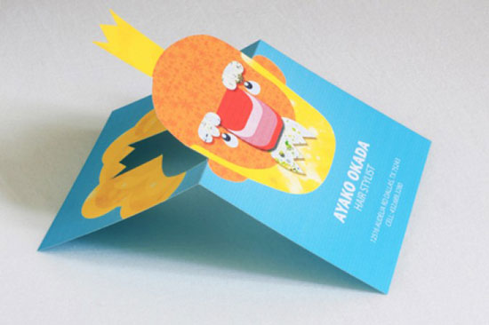 Ayako Okada Business Card Design Inspiration