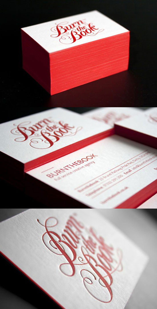 Burn the Book Business Card Design Inspiration