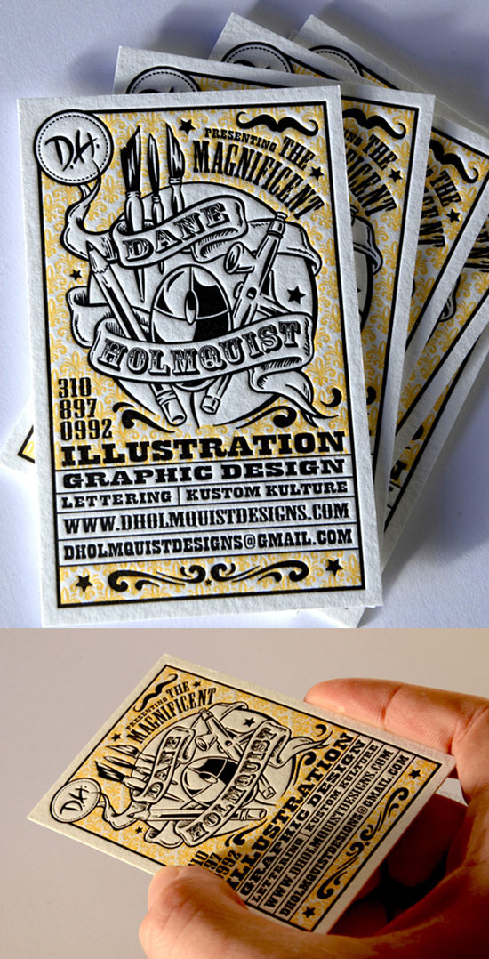 Dane Holmquist Business Card Design Inspiration