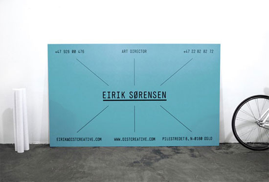 Eirik Sorensen Business Card Design Inspiration