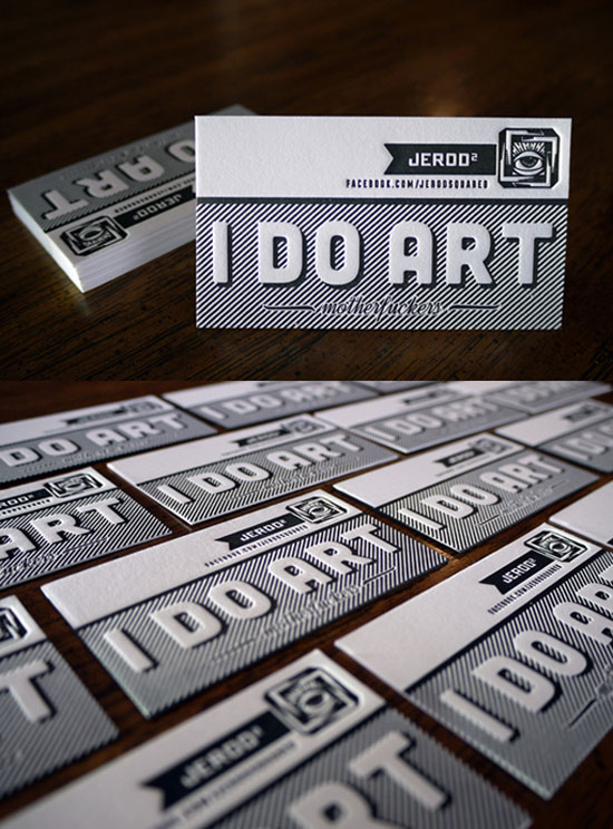 Jerod Squared Business Card Design Inspiration