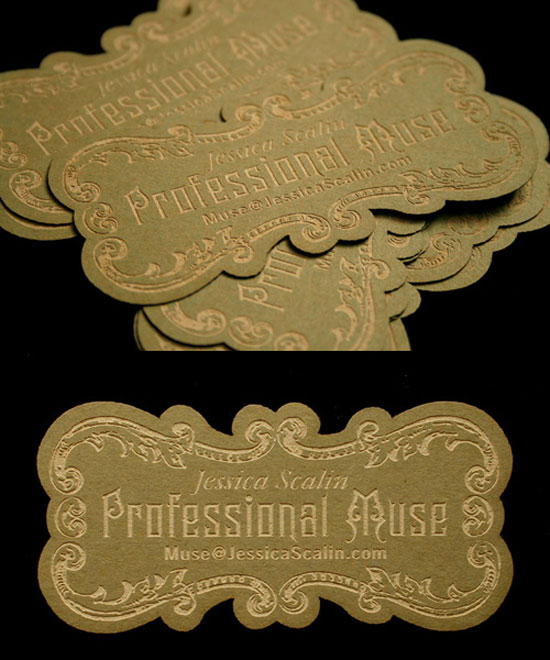 Jessica Scalin Business Card Design Inspiration