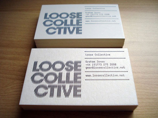 Loose Collective Business Card Design Inspiration