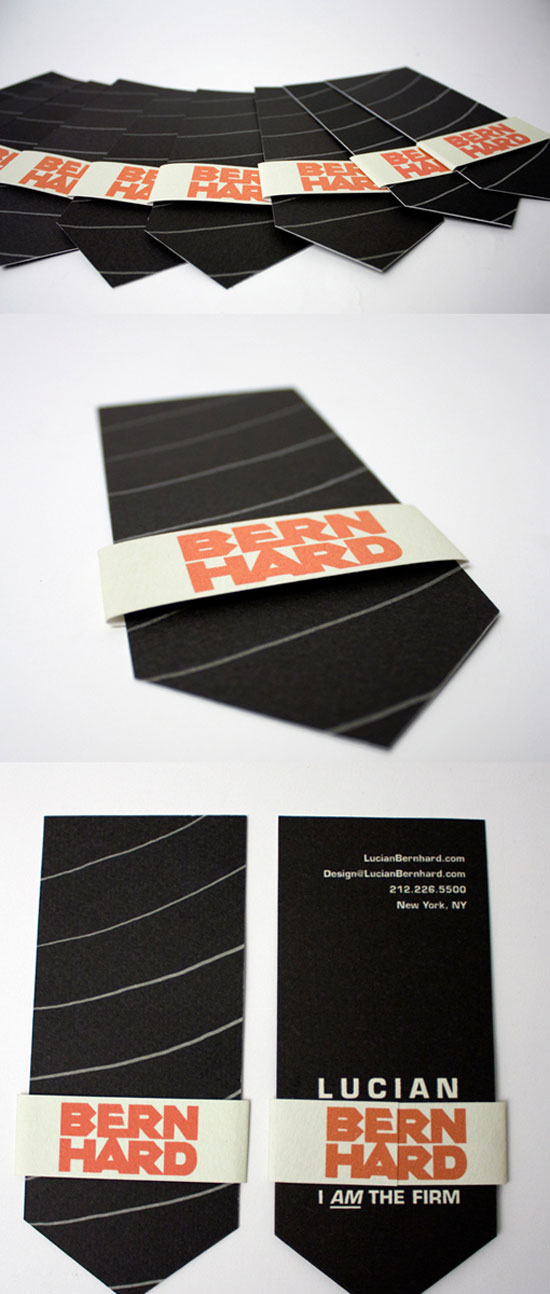 Lucian Bern Hard Business Card Design Inspiration