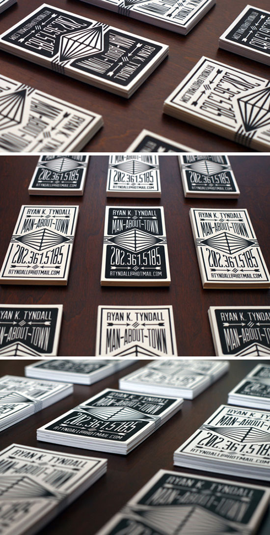 Man About Town Business Card Design Inspiration