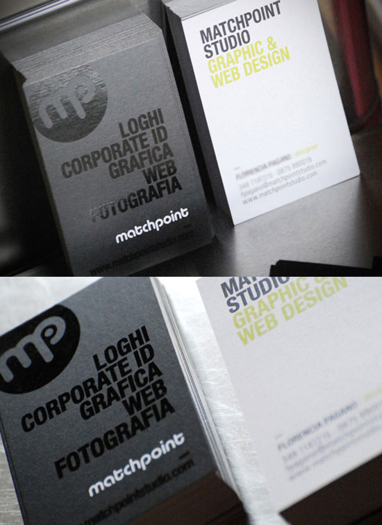 match point studio best business card designs 300 cool examples and ideas - Best Business Card Designs