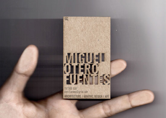 Miguel Otero Fuentes  Business Card Design Inspiration