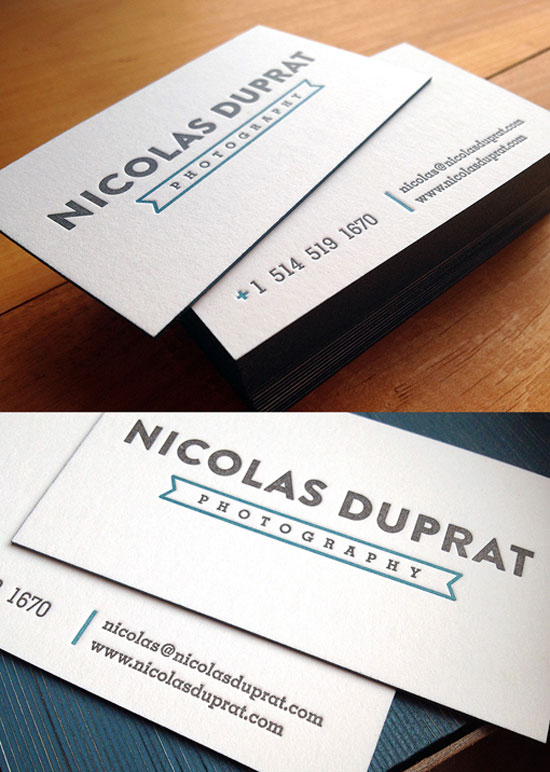Nicolas Duprat Photography Business Card Design Inspiration