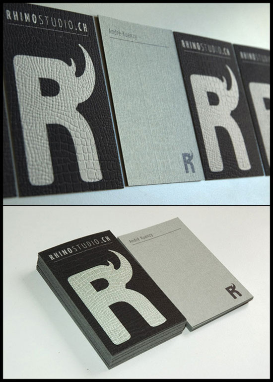 Rhino Studio Business Card Design Inspiration
