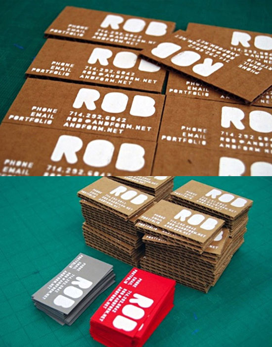 Robert Teague Business Card Design Inspiration