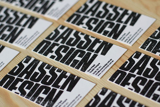 Sassen Design Business Card Design Inspiration