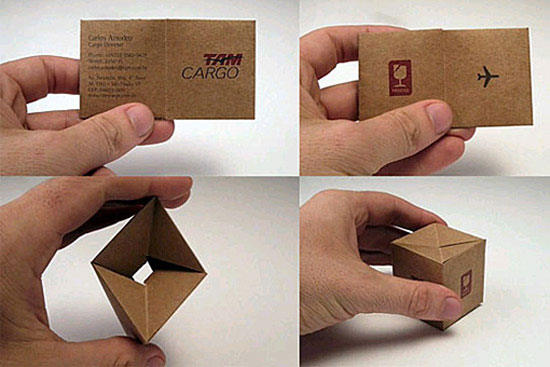 TAM Cargo Business Card Design Inspiration