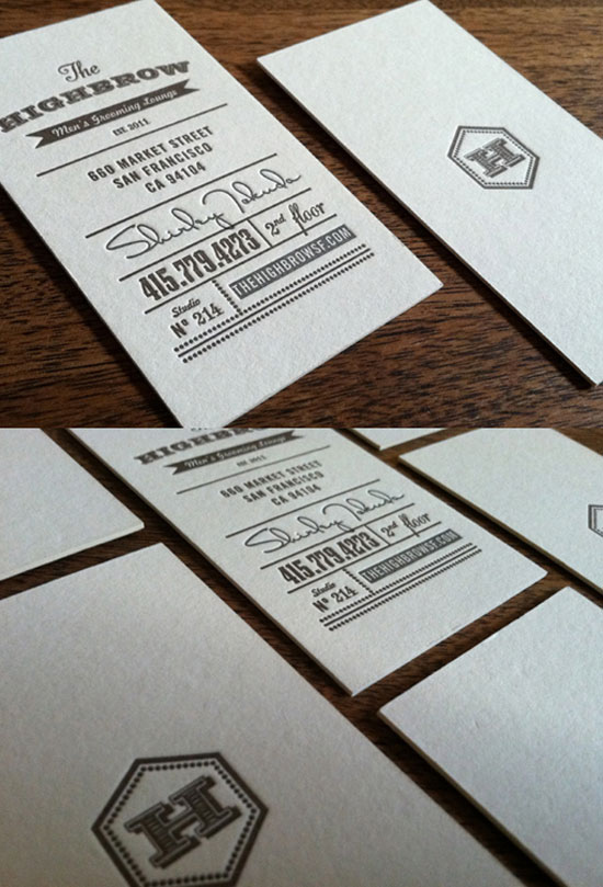 The Highbrow Business Card Design Inspiration