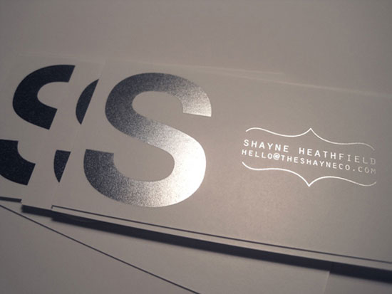 The Shayne Co Business Card Design Inspiration
