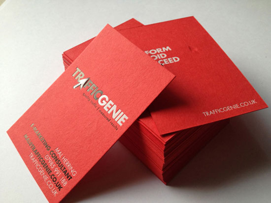 TrafficGenie Business Card Design Inspiration