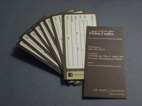 Vision Center Business Card Design Inspiration