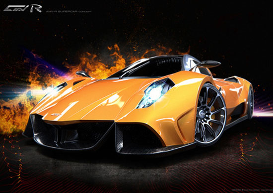AMV-R by Alexei Mikhailov Car concept Design. Vehicle For The Future