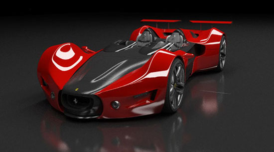 Ferrari Celeritas by Aldo H. Schumann Car concept Design. Vehicle For The Future