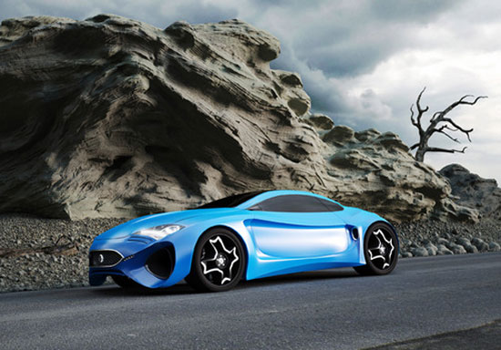 Jaguar XKX by Hussain Almossawi & Marin Myftiu Car concept Design. Vehicle For The Future