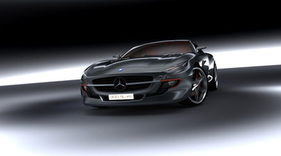 Mercedes-Benz 300SL by Slimane Toubal Car concept Design. Vehicle For The Future