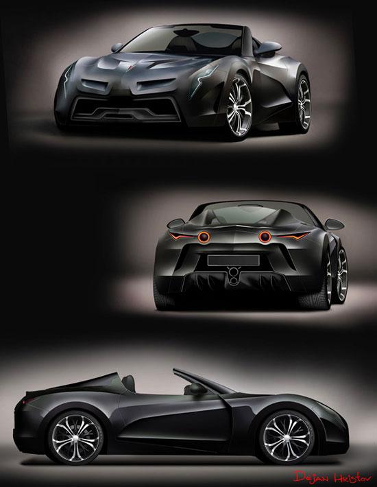 Pontiac Solstice by Dejan Hristov Car concept Design. Vehicle For The Future
