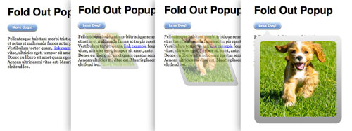 Fold Out Popups