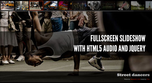 Fullscreen Slideshow with HTML5 Audio and jQuery