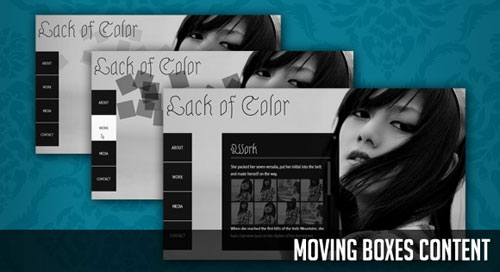 Moving Boxes Content with jQuery