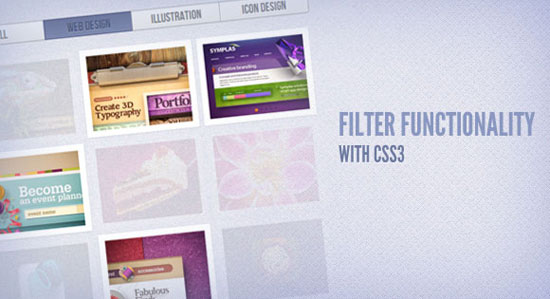Filter Functionality with CSS3