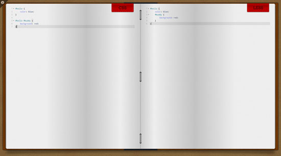 css2less Tool for web designers