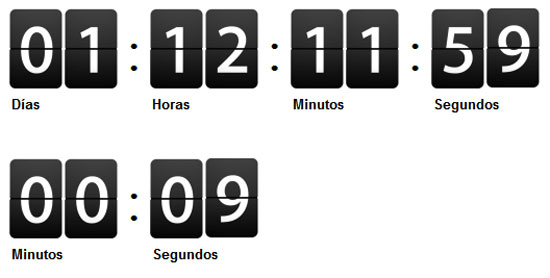 jquery-countdown Tool for web designers