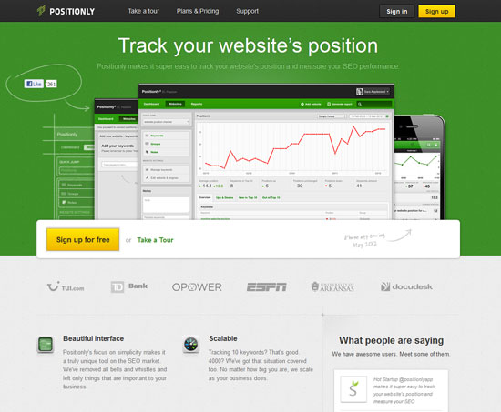 Positionly Tool for web designers