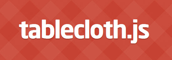 tablecloth.js Tool for web designers