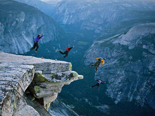 BASE Jumping, Yosemite Photography