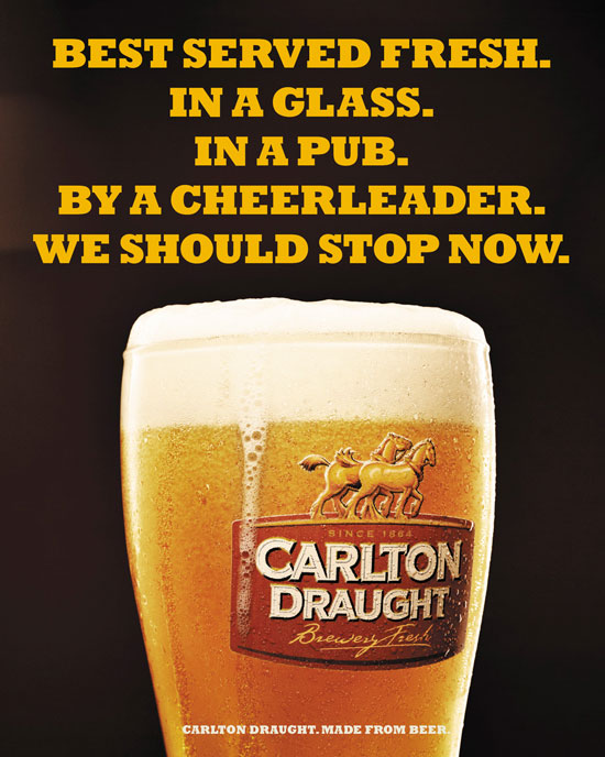 Carlton Draught Outdoor Advertising