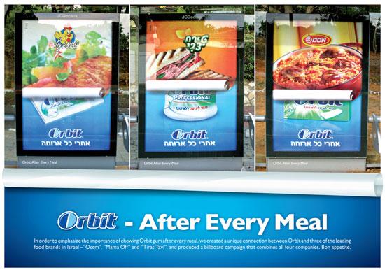Wrigley's Orbit Outdoor Advertising