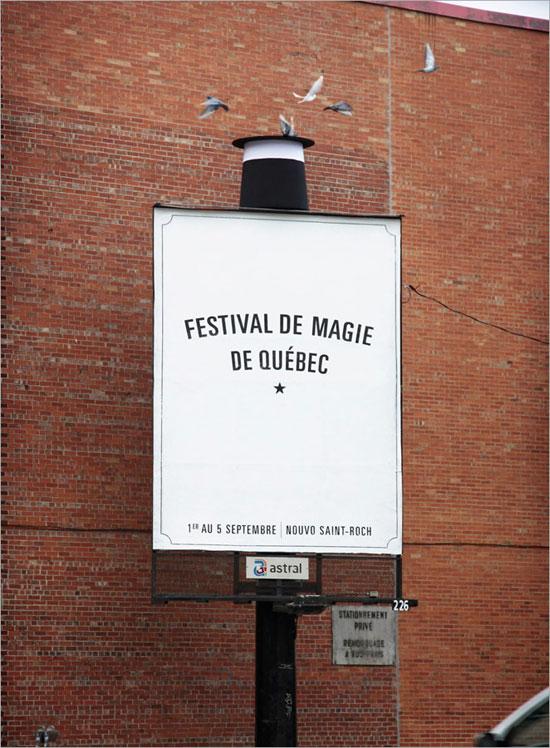 Quebec city magic festival Outdoor Advertising