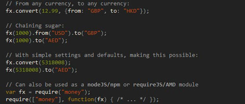 money.js: JavaScript currency conversion library