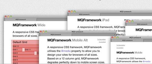 MQFramework: A responsive CSS framework